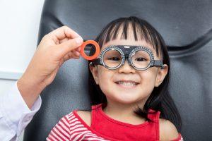 Asian Little Chinese Girl Doing Eyes Examination | Dittman Eyecare