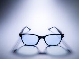 Blue light blocking glasses.